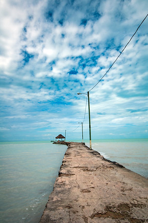 Pier in the Caribbean