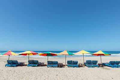 Beach beds ... Zicatela Beach ... Oaxaca