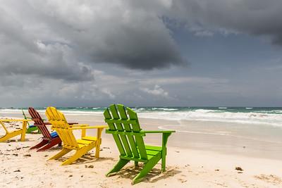 Chairs on Tulum Beach ... Quintana Roo
