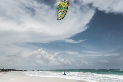The windsurfer ... Tulum Beach
