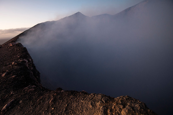 First light at the craters edge,