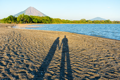 Long shadows on Ometepe Island
