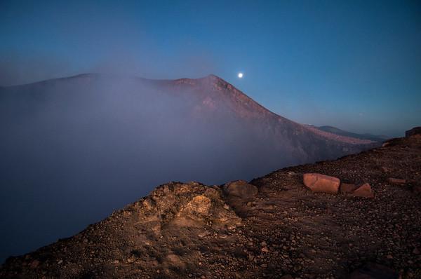 Crater at sunrise