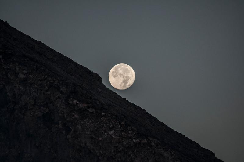 Full moon rises above Volcan Telica
