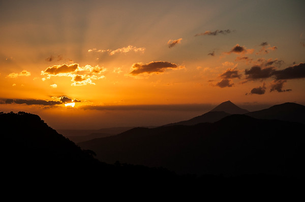 Sunrise from Telica Volcano
