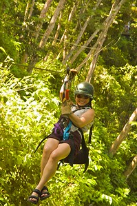 Sheri on the zip line