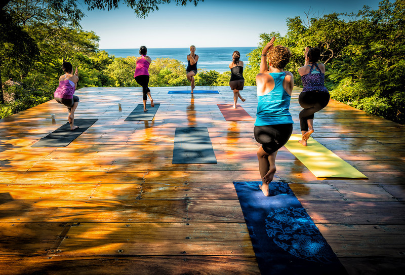 Yoga above San Juan del Sur