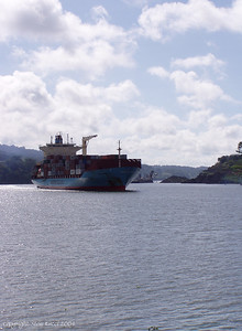 Ships coming through the Panama Canal.