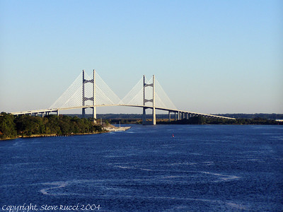 View of the Dames Point Bridge - Jacksonville, FL