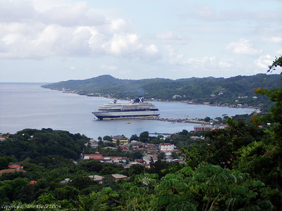 Celebrity Cruises ship Zenith, docked at Roatan, Honduras