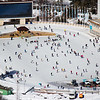 Skaters at the Medeu Ice Rink