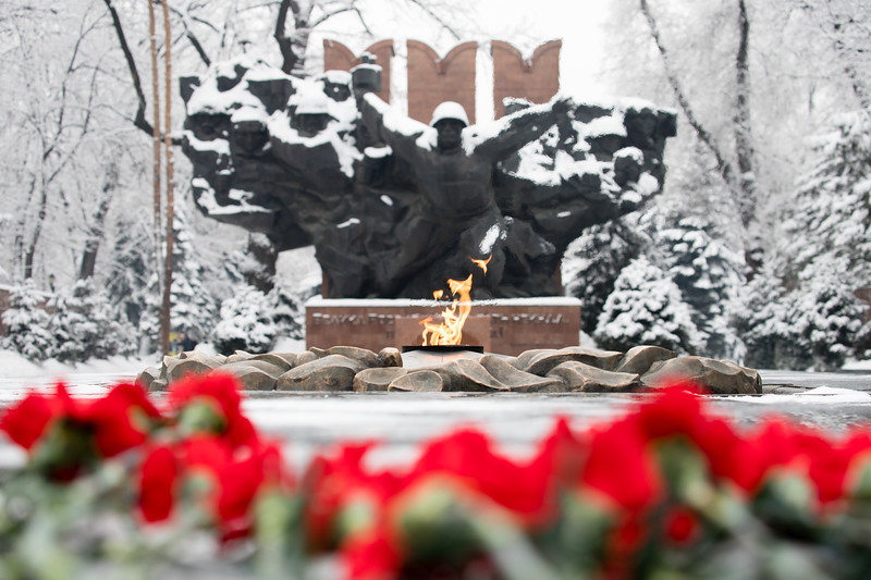 Monument to the Glory of the Panfilov Soldiers at the heart of Almaty, Kazakhstan.