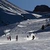 Skiing at Shymbulak Ski Resort in Almaty, Kazakhstan.