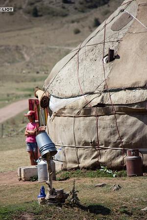 Rural yurt in the Tian Shan mountains.