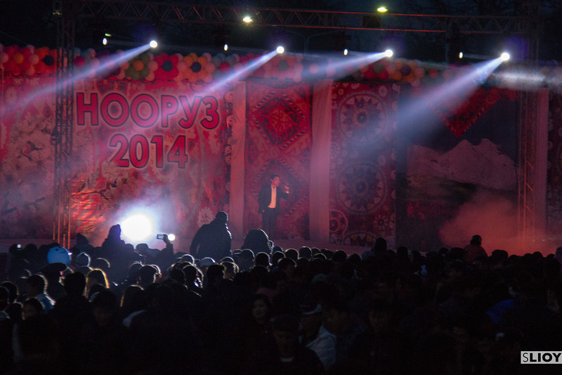Nooruz 2014 Concert at Ala-Too Square in Bishkek.