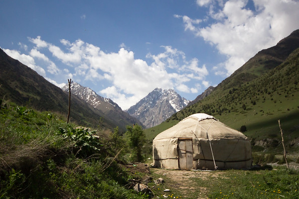 Yurt in the mountains of Kyrgyzstan