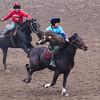 Ulak Tartysh rider in the Bishkek Hippodrome.