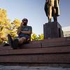 Lenin Statue in Bishkek.