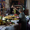 Shopping for produce in the local bazaar in Penjikent, Tajikistan.