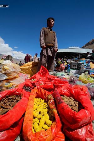 Merchant at the Ishkashim Bazaar on the border between Tajikistan and Afghanistan