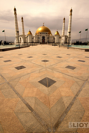 One of former leader Turkmenbashi's pet projects, the Gypjak Mosque is large and imposing and actually quite pretty in a showy sort of way.