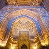 Interior details of the Gur-i-Amir Mausoleum of Amir Timur in Samarkand, Uzbekistan.