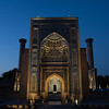 Sunrise over the Gur-i-Amir Mausoleum of Amir Timur in Samarkand, Uzbekistan.