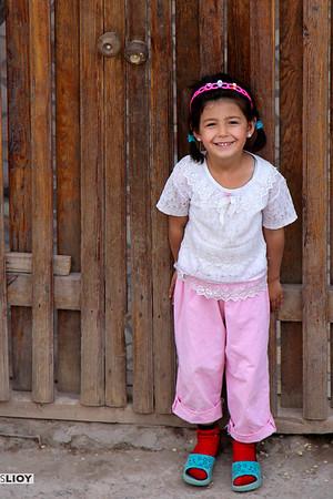 Young Girl, Old Door - Khiva