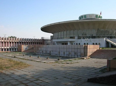 A circus, apparently abandoned, in Bishkek, Kyrgyzstan