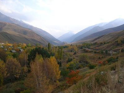 Gorge outside Bishkek, Kyrgyzstan