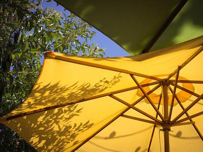 Restaurant patio umbrellas, San Luis Obispo CA