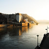 The Danbue at sunrise in Passau.