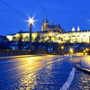 Prague Castle from the Manesuv Bridge.