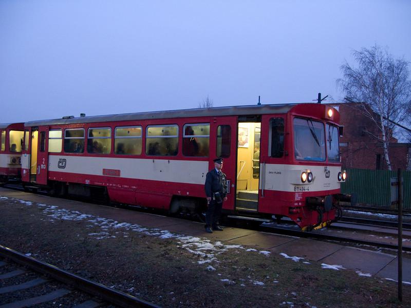 Waiting for the inbound at Praha-Ruzyně station. 