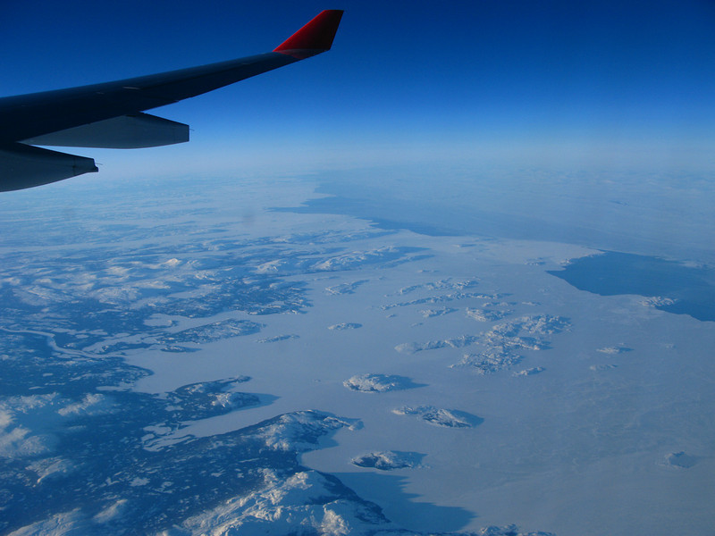 Flying over Labrador on the way back to Boston.