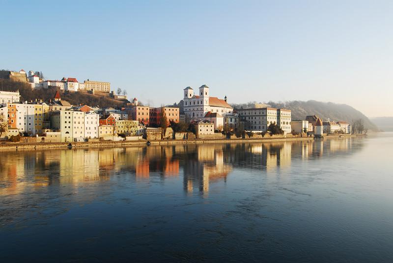 Passau's Altstadt from the River Inn.