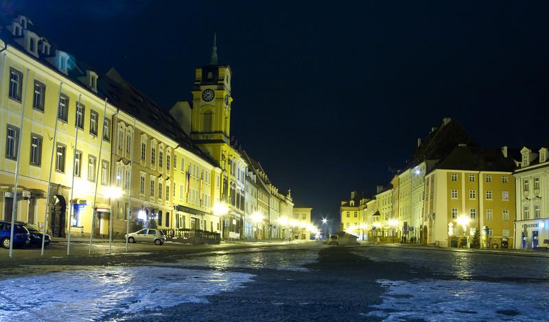 The Main Square of Cheb, Czech Republic.