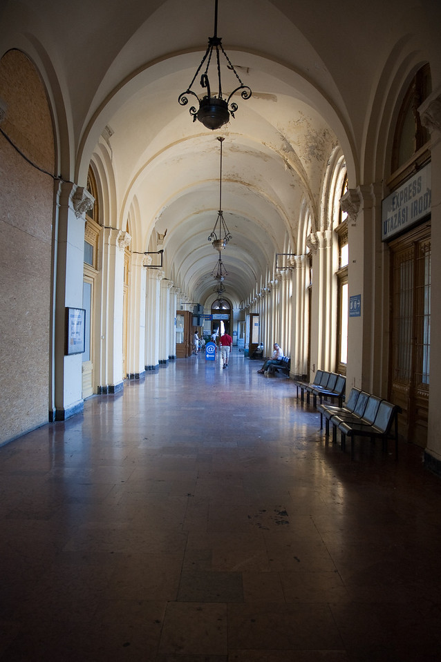 Hallway in the old trainstation