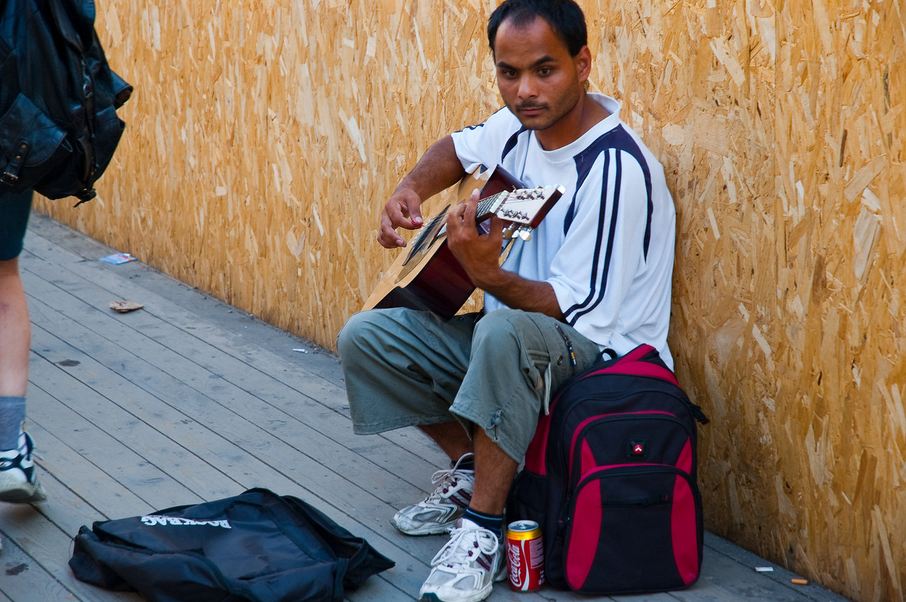 My first photo of a street musician in Hungary, I saw numerous of these in both Slovenia and Poland/Krakow. Compared to those from Slovenia and Krakow, this one did not seem to happy to have his picture taken.
