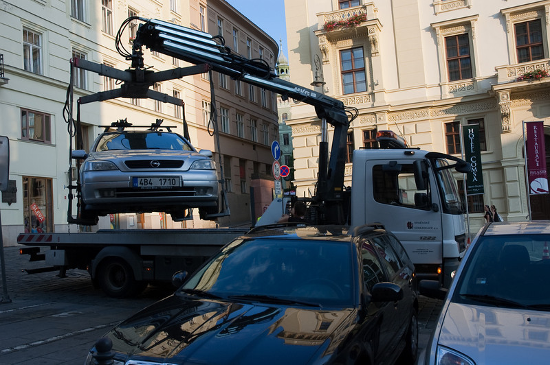 Towing cars the Czech way.....