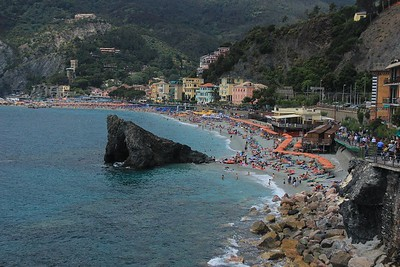 Monterroso al Mare, Italy, the largest of Cinque Terre's 5 towns.