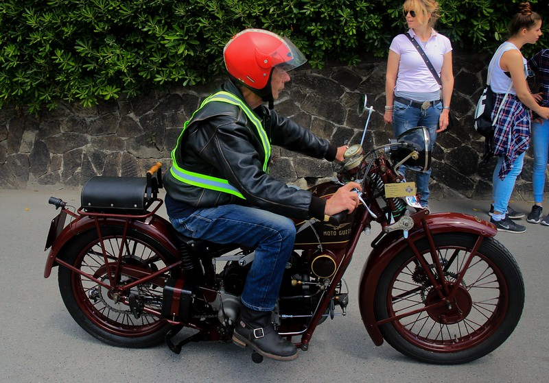 Rider and bike of similar vintage..