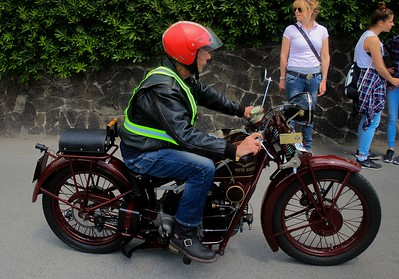 Rider and bike of similar vintage..