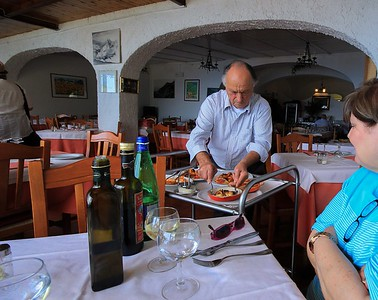 The restaurant owner appreciated our guide's recommendation and waited on us himself. His name is Luigi. Really. Would I make that up?