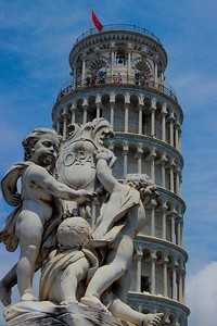 "Statue on the grounds of the ""Field of Miracles"", Pisa Italy."