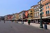 The clean, orderly look of the buildings in downtown Verona, Italy, also showcases multiple styles of architecture.