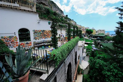 While many shops are at or near street level, shopping and dining in Positano can quickly become a vertical sport.