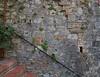 Old masonry wall in San Gimignano.