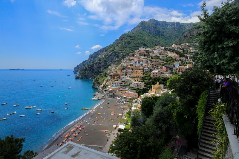 Looking north into Positano. To the left is the Tyrrhenian Sea. Yeah, that makes 2 of us that never heard of it.