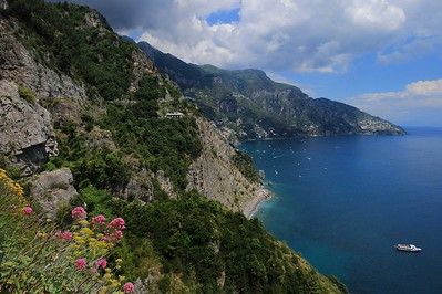 Amalfi Coast just north of Positano as we entered the city.